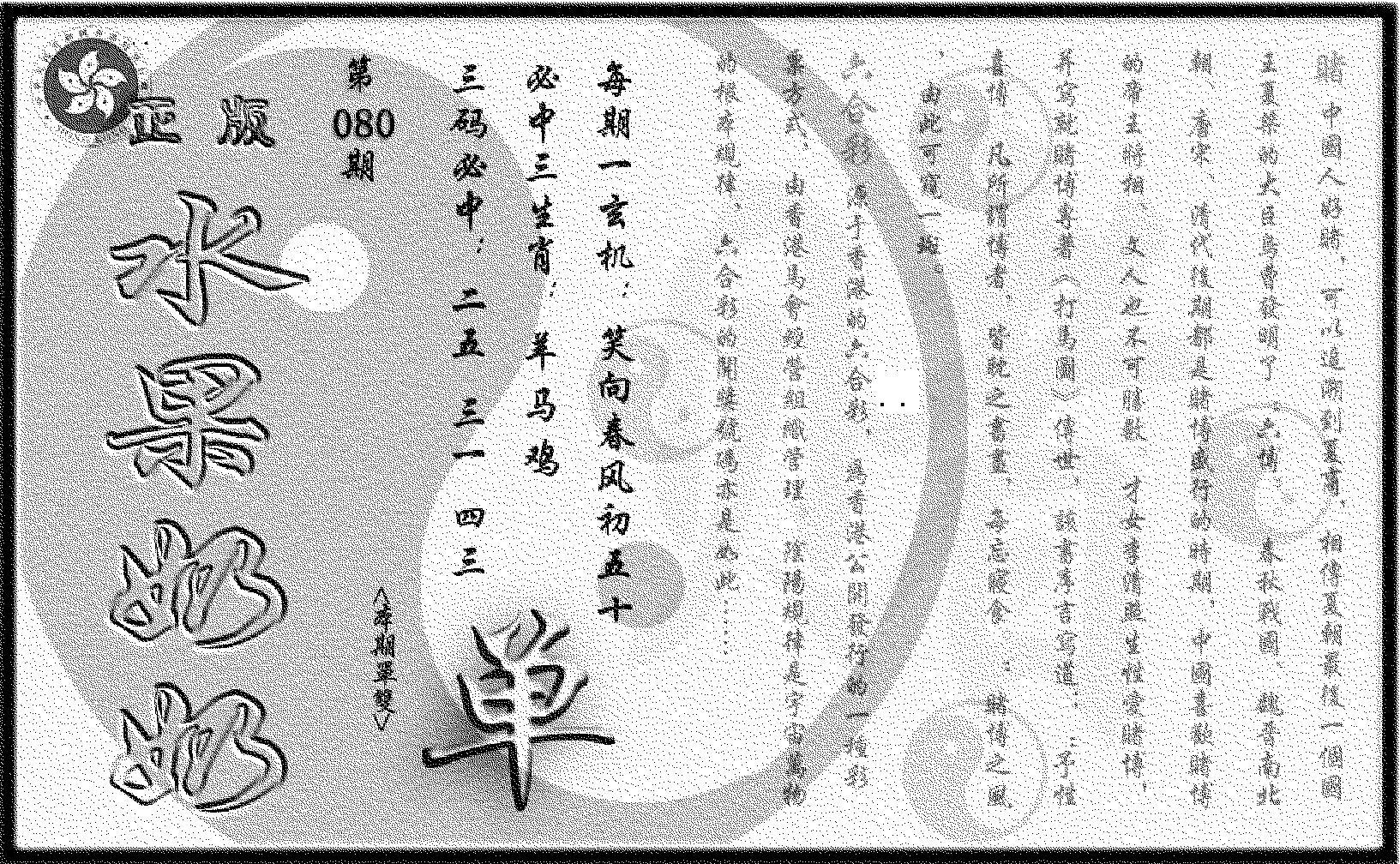080期(九龙单双攻略)正版(黑白)