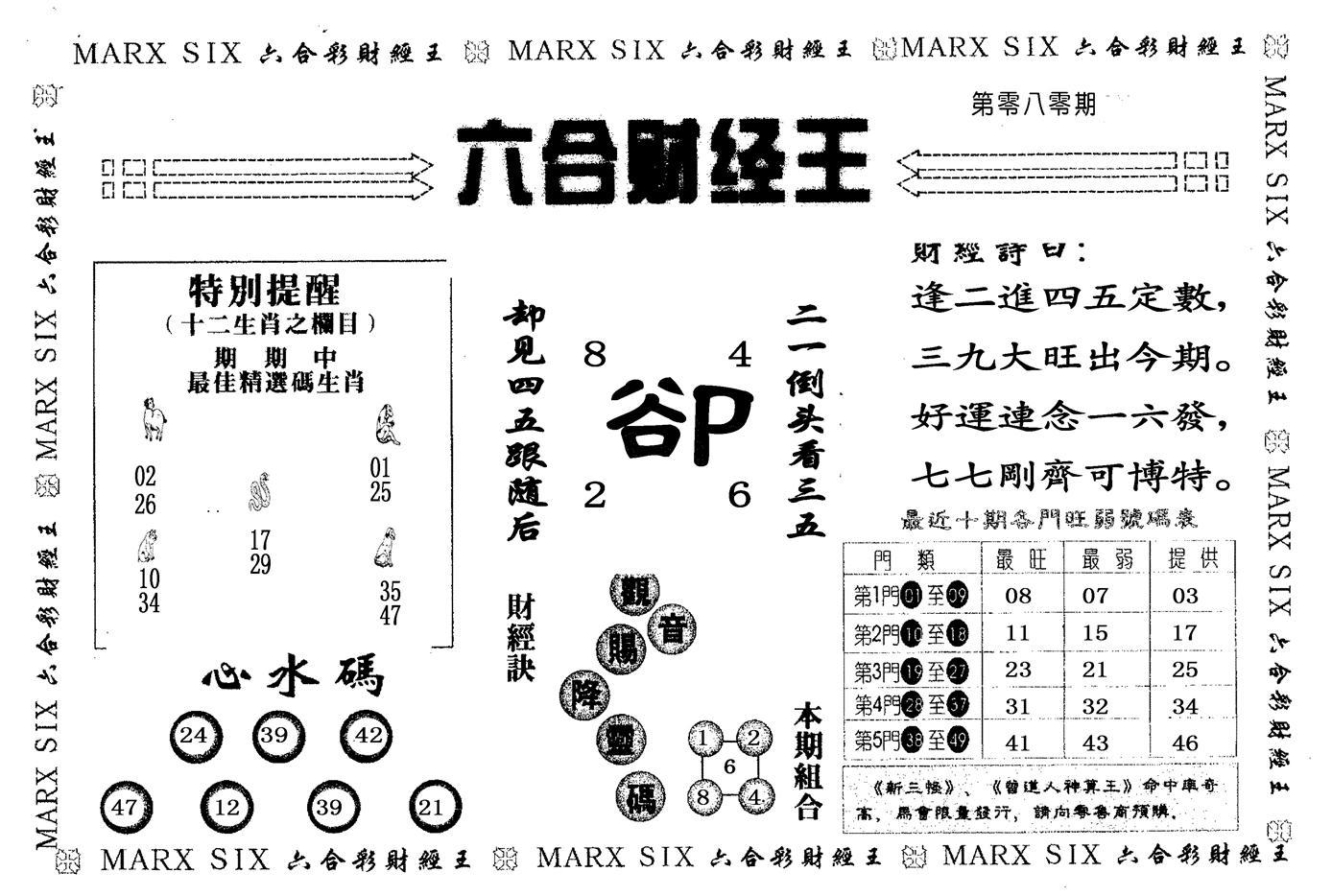 080期六合财经王(黑白)