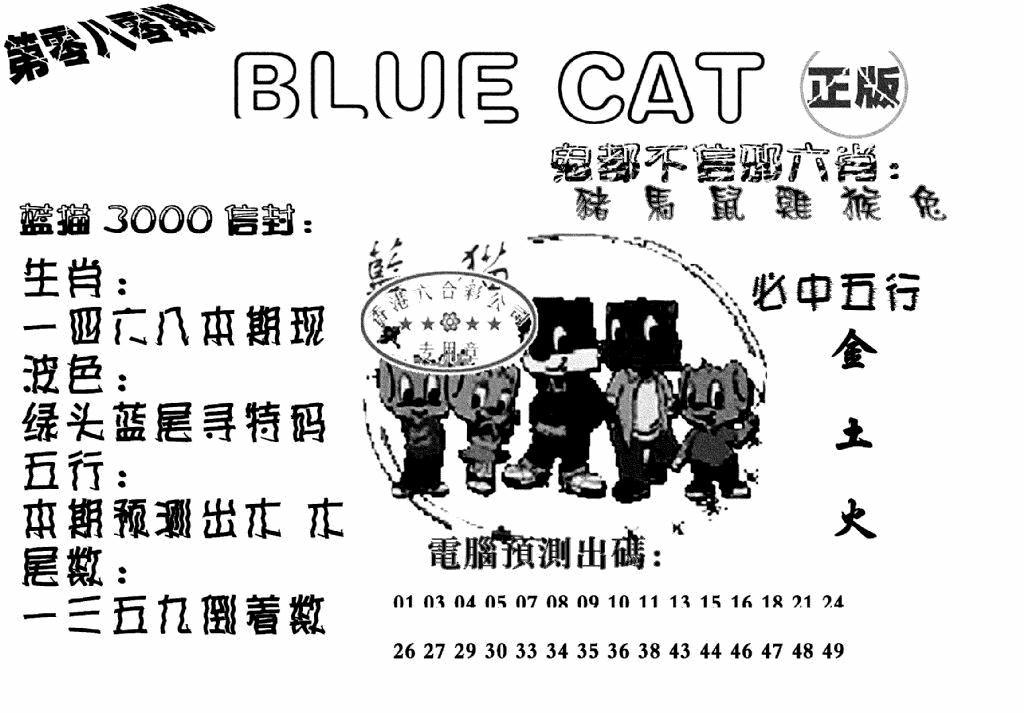 080期蓝猫BlueCat(黑白)