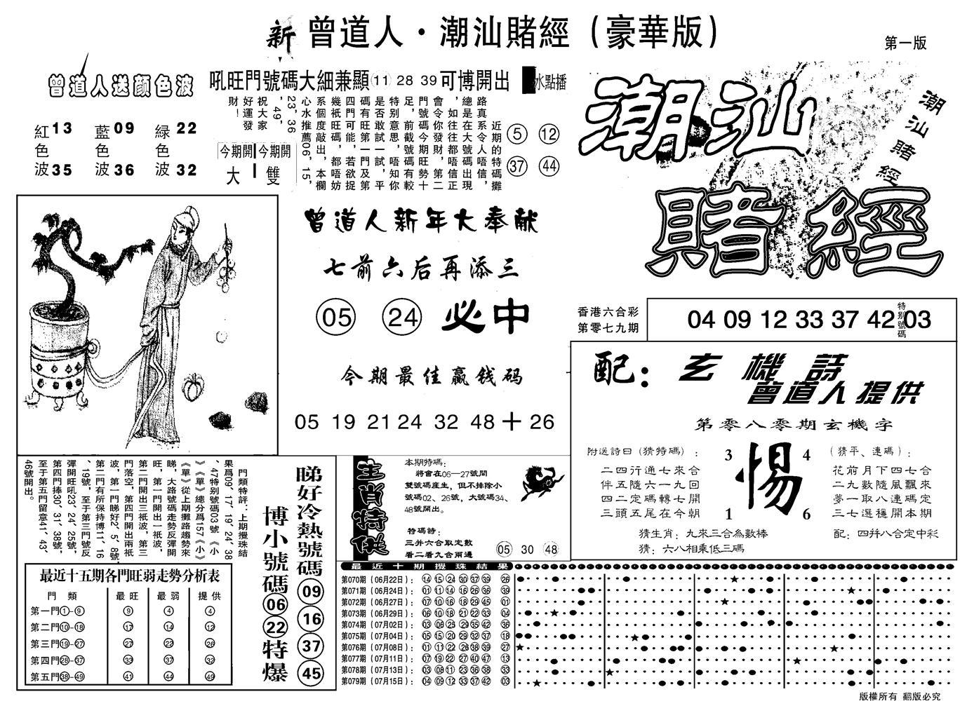 080期另潮汕赌经濠华版A(黑白)