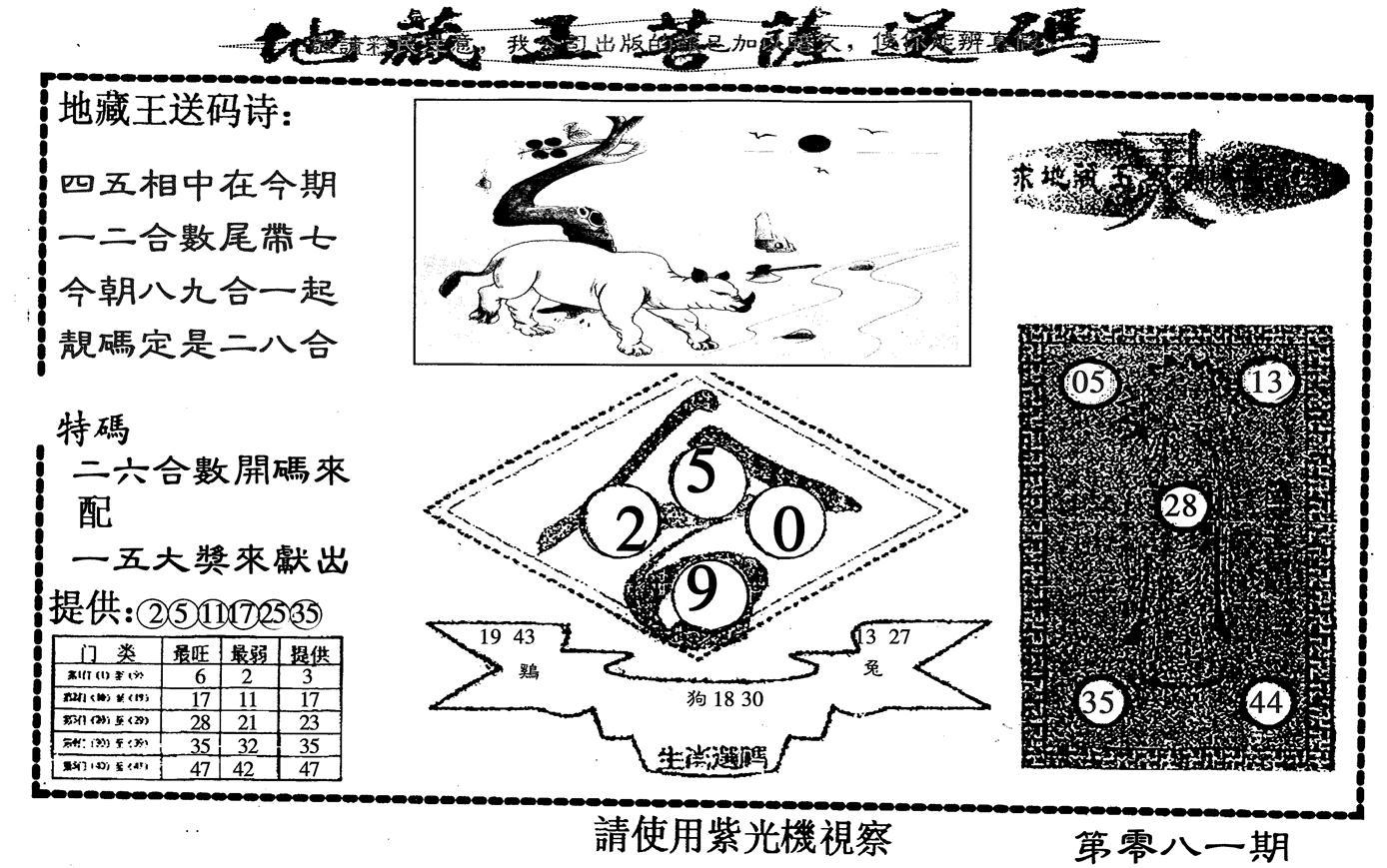 081期地藏王(黑白)