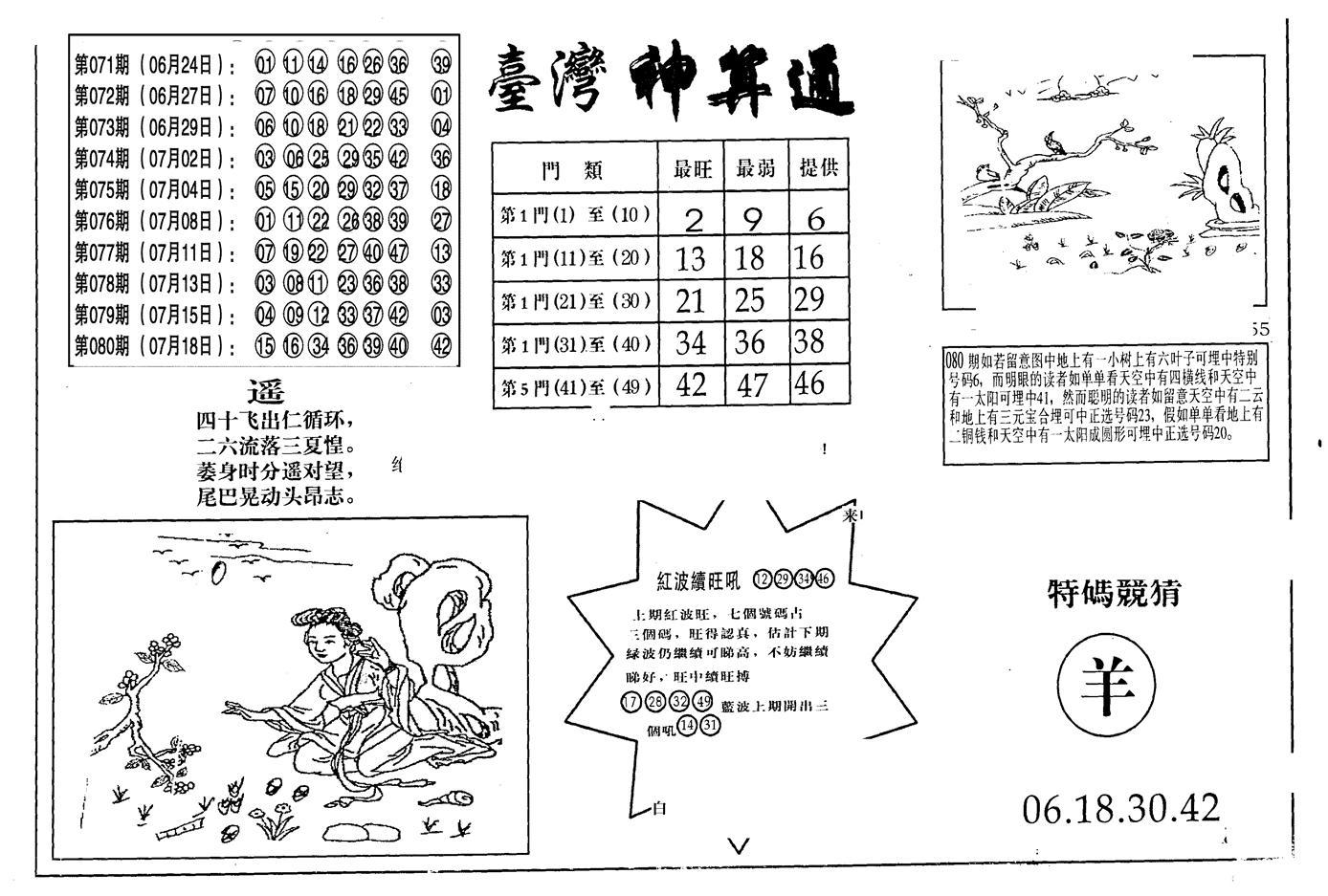 081期老潮汕台湾神算(黑白)