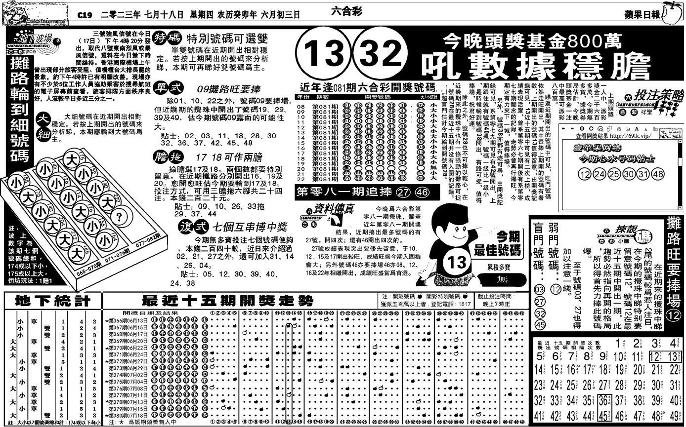 081期私作苹果报B(自决)(黑白)