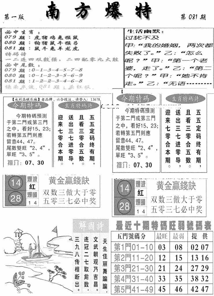 081期南方爆特A(黑白)