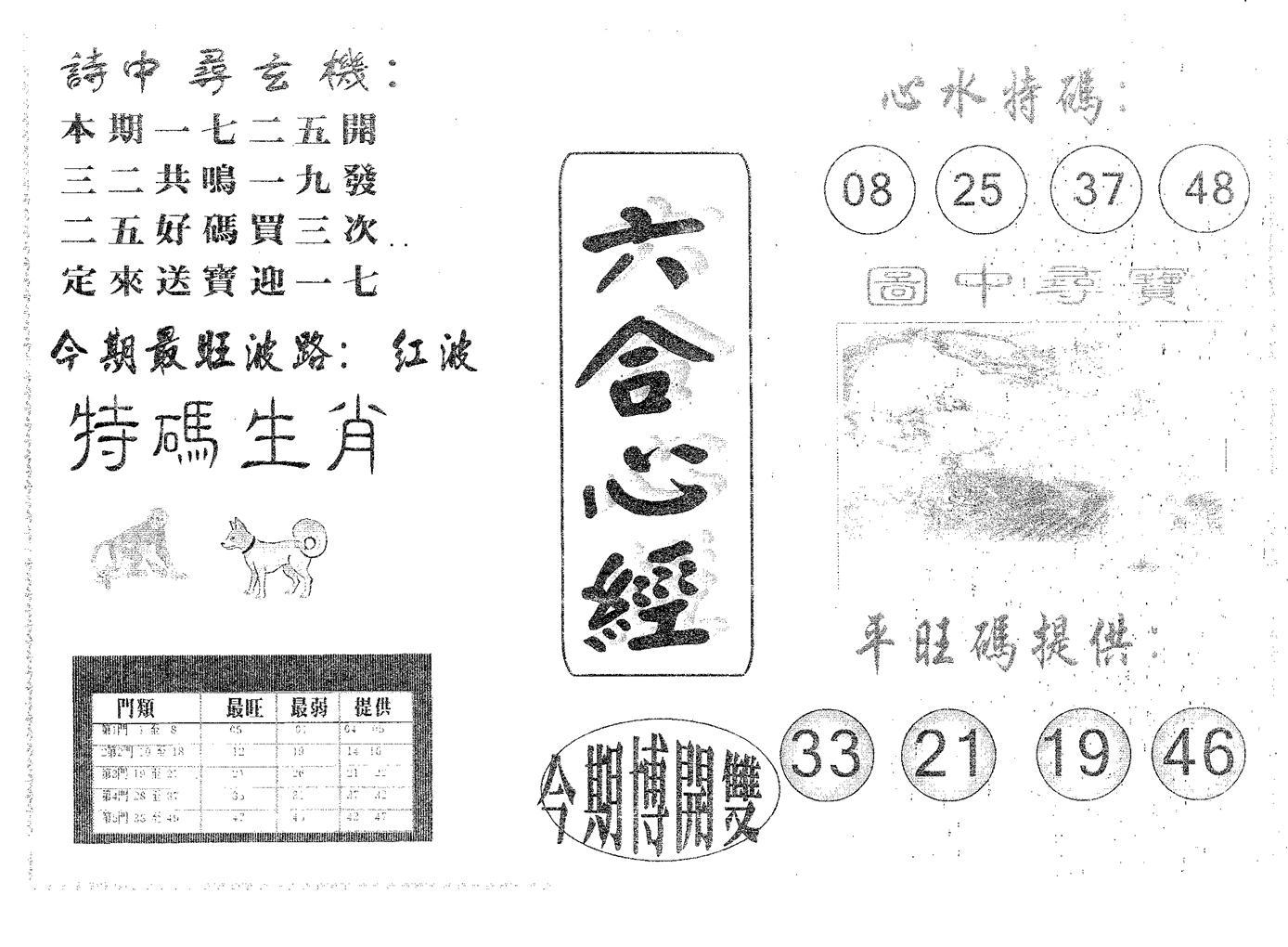 082期六合心经(黑白)