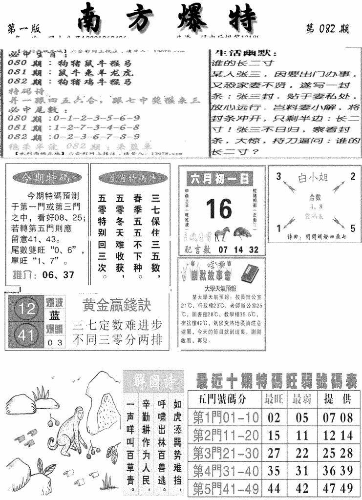 082期南方爆特A(黑白)