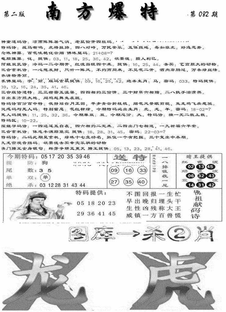 082期南方爆特B(黑白)