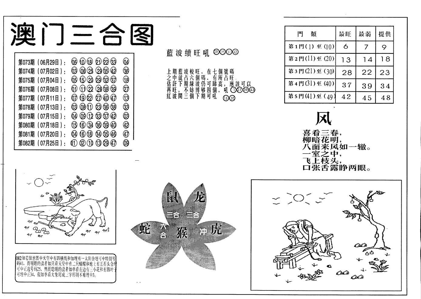 083期老潮汕澳门三合(黑白)