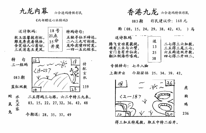 083期九龙内幕--开奖报(黑白)