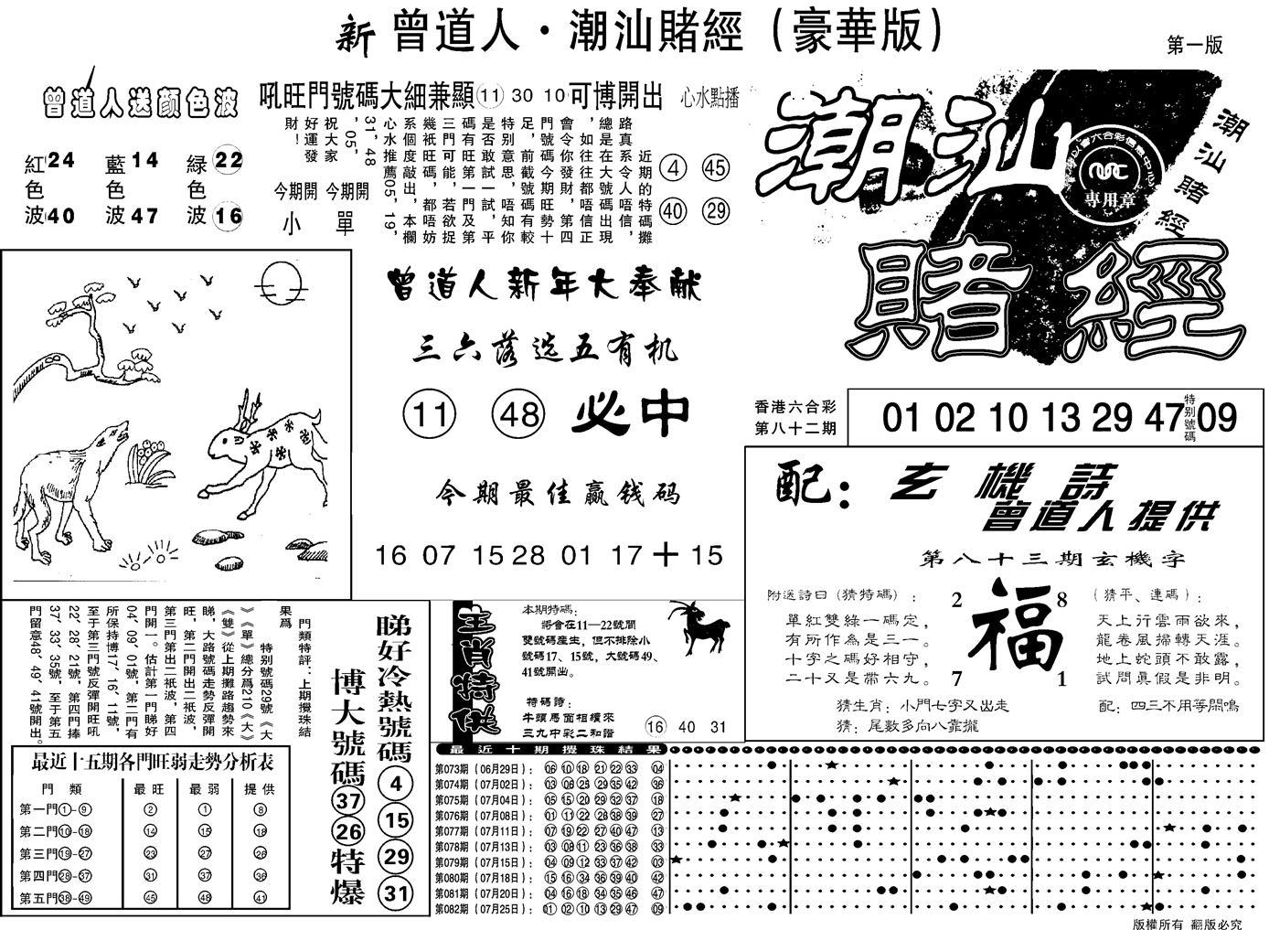083期另潮汕赌经濠华版A(黑白)