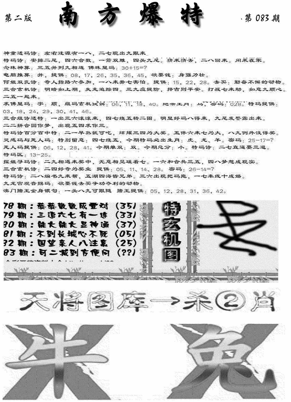 083期南方爆特B(黑白)