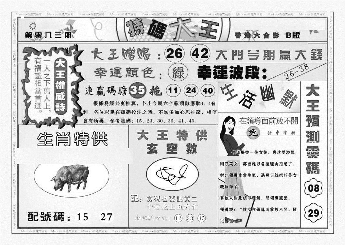 083期特码大王B(黑白)