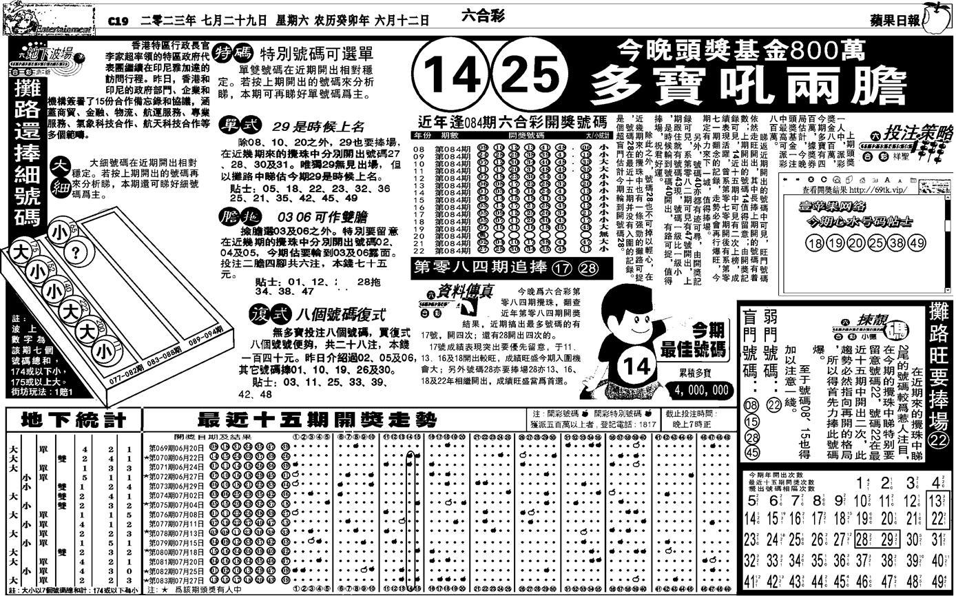 084期私作苹果报B(自决)(黑白)