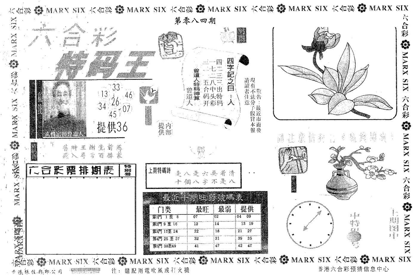 084期特码王A(黑白)