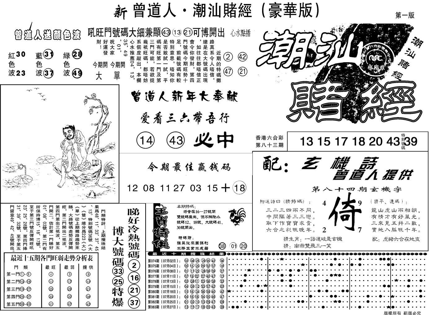 084期另潮汕赌经濠华版A(黑白)