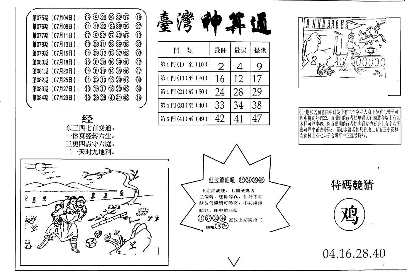 085期老潮汕台湾神算(黑白)