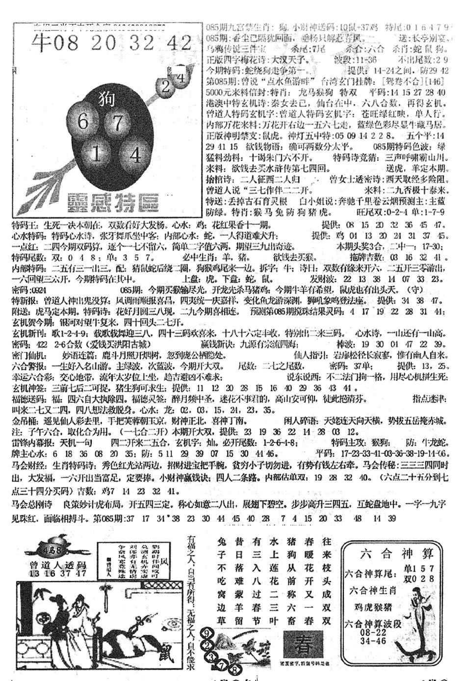 085期平西版彩霸王B(黑白)