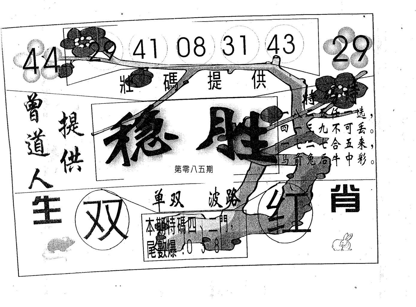 085期稳胜(黑白)
