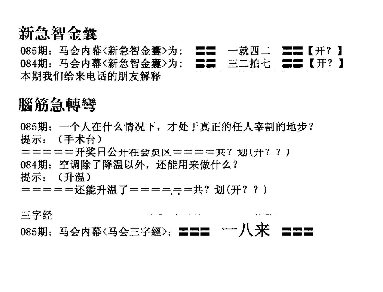085期新急智金囊(黑白)