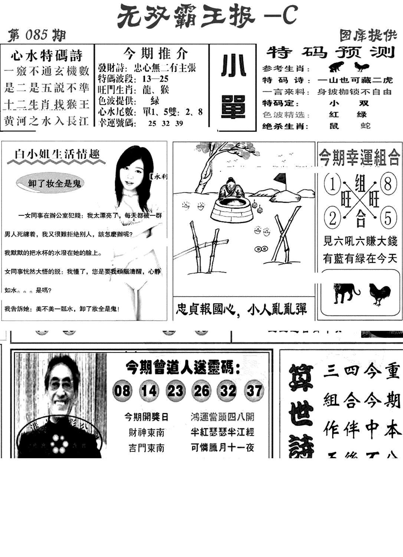085期无双霸王报C(黑白)