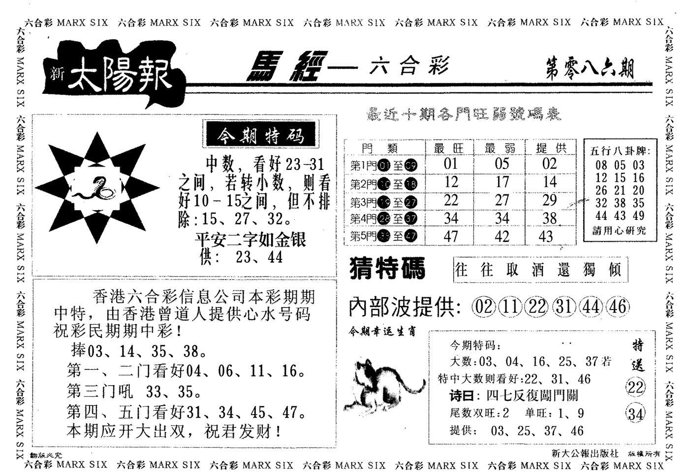 086期太阳报(黑白)