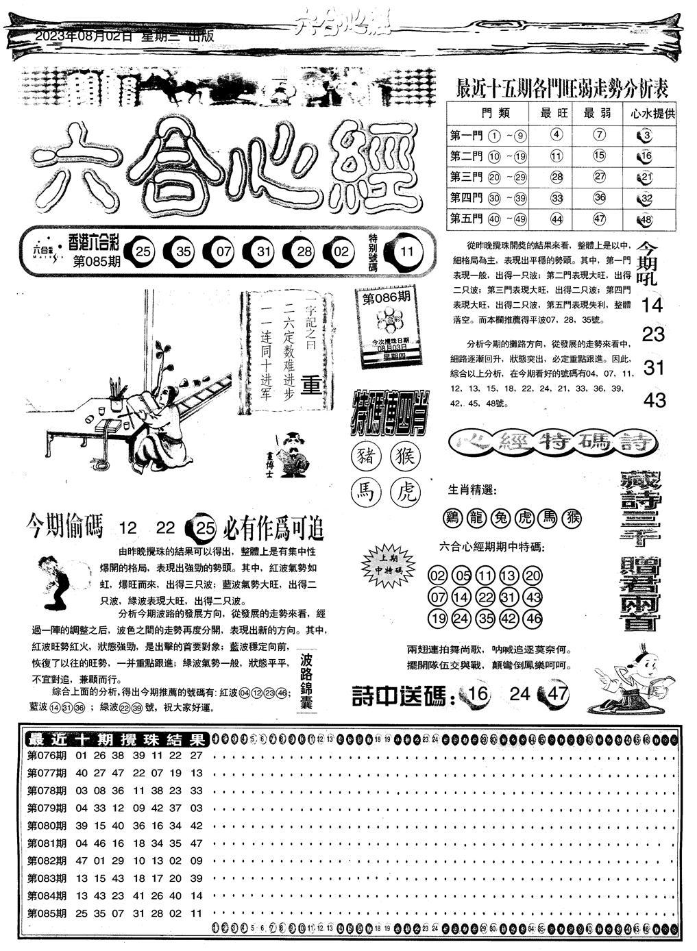 086期心经A(黑白)