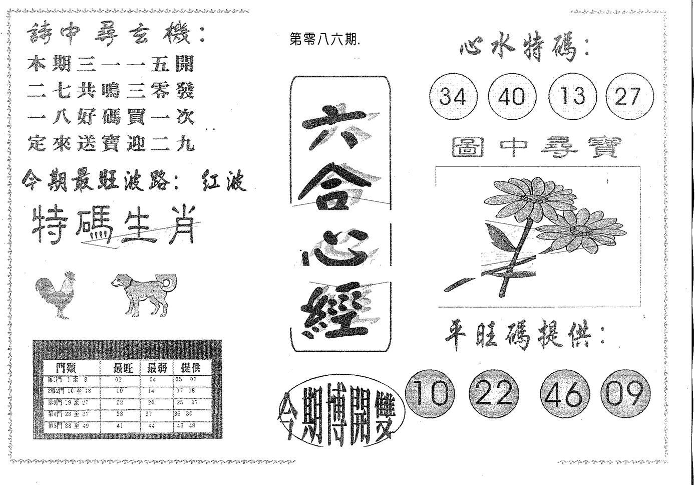 086期六合心经(黑白)