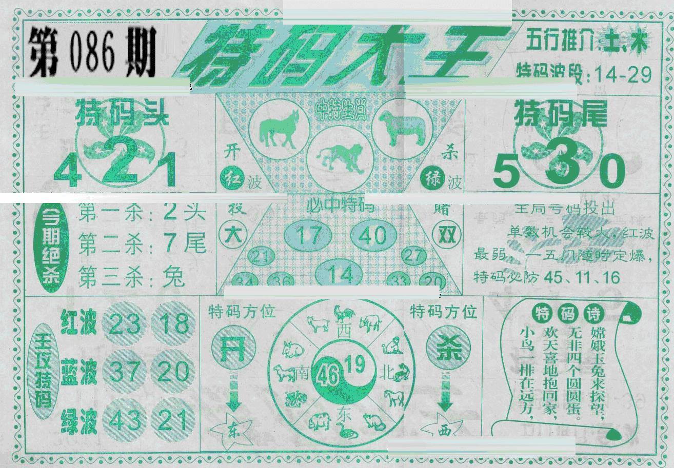 086期特码大王(黑白)