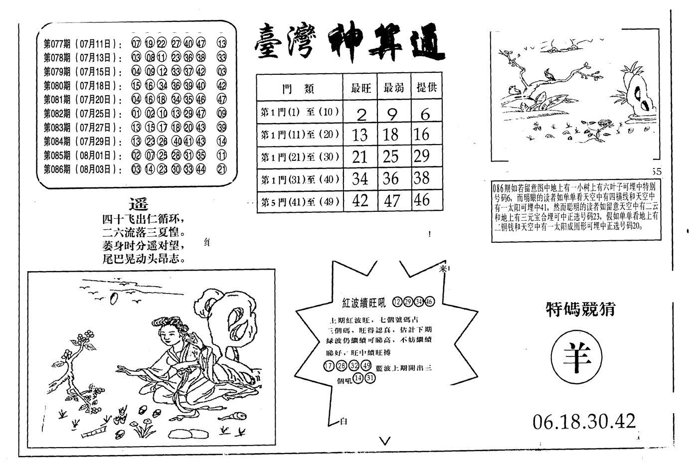 087期老潮汕台湾神算(黑白)