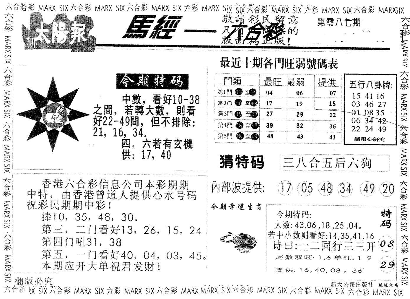 087期太阳报(黑白)