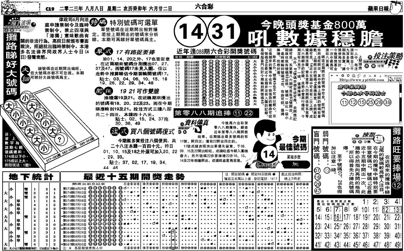 088期私作苹果报B(自决)(黑白)