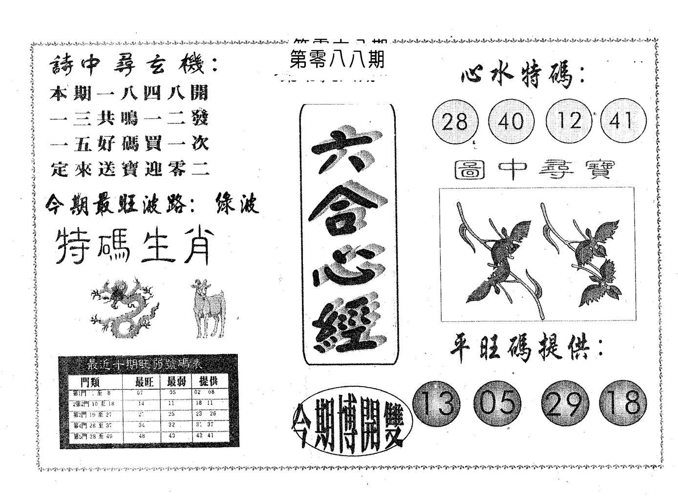 088期六合心经(黑白)