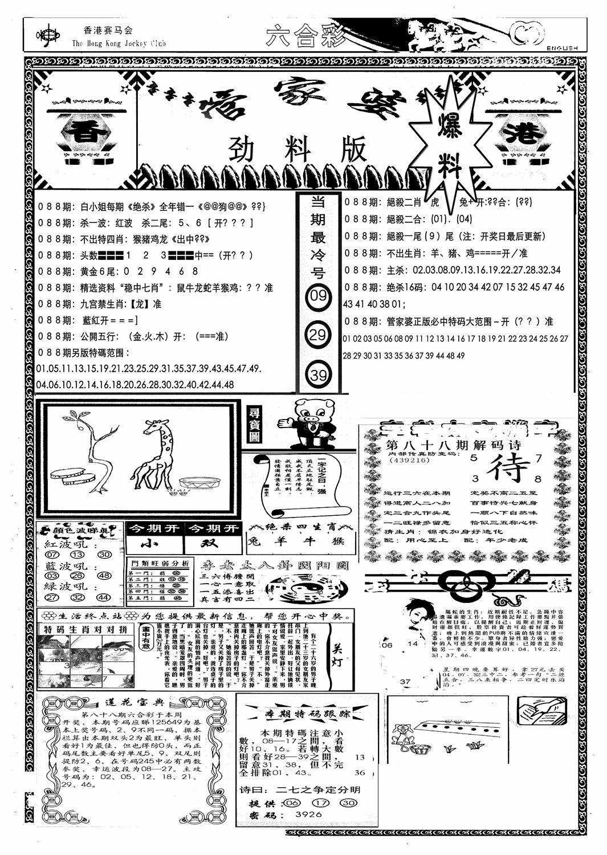 088期管家婆劲料版(新)(黑白)