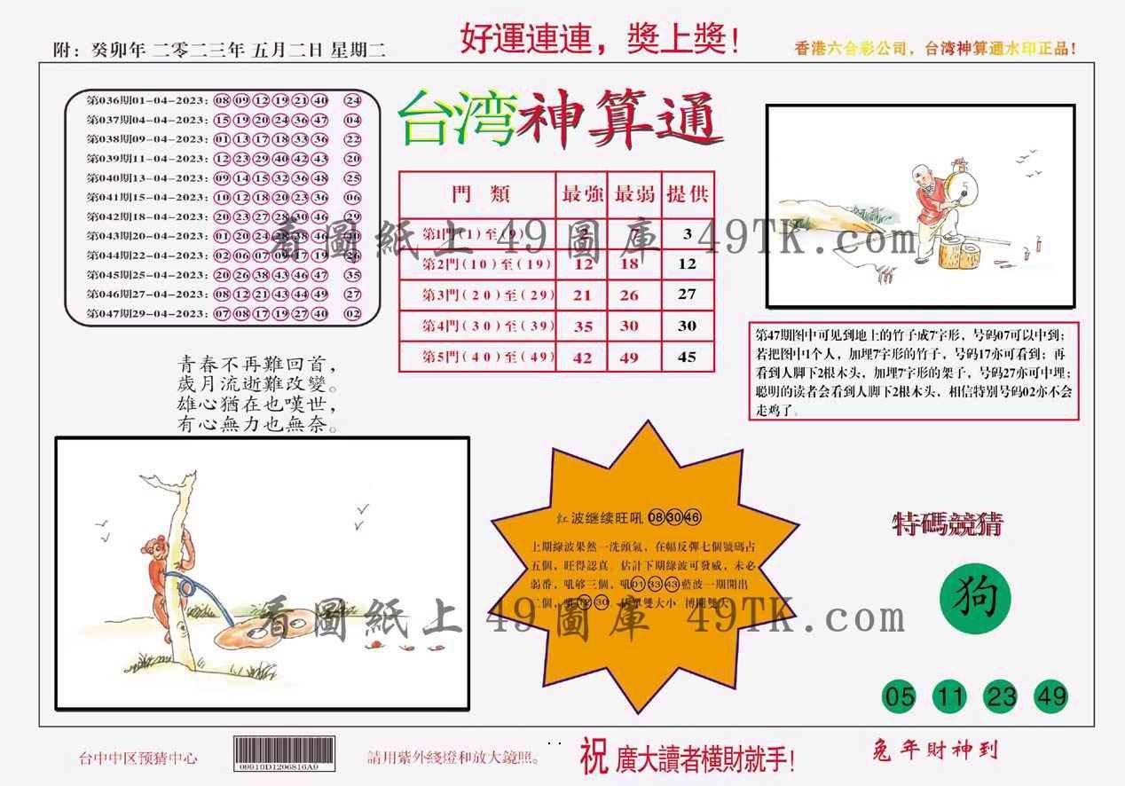 048期台湾神算