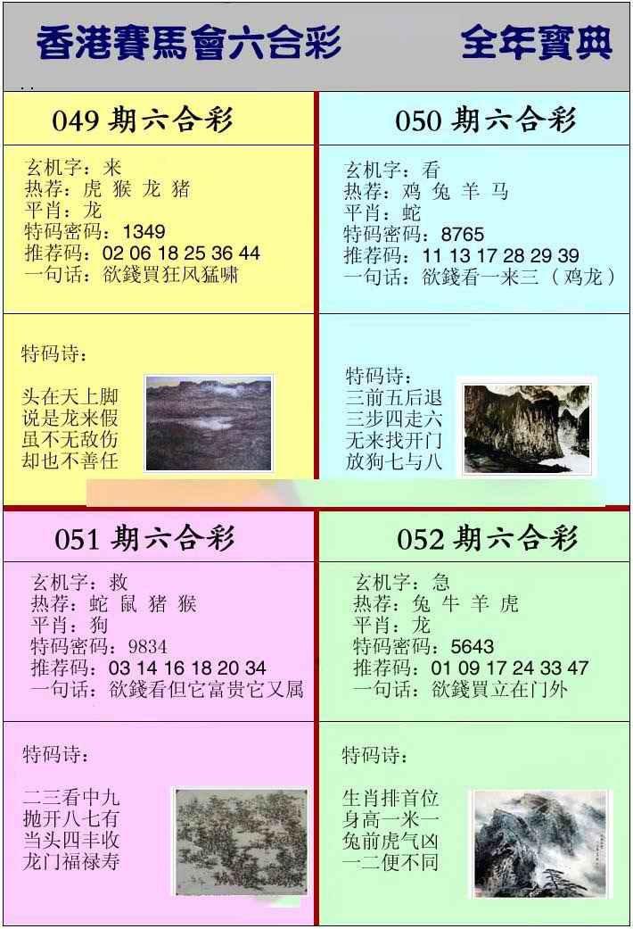 050期香港挂牌宝典