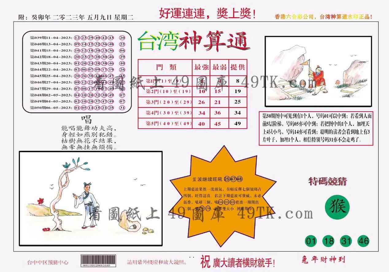 051期台湾神算
