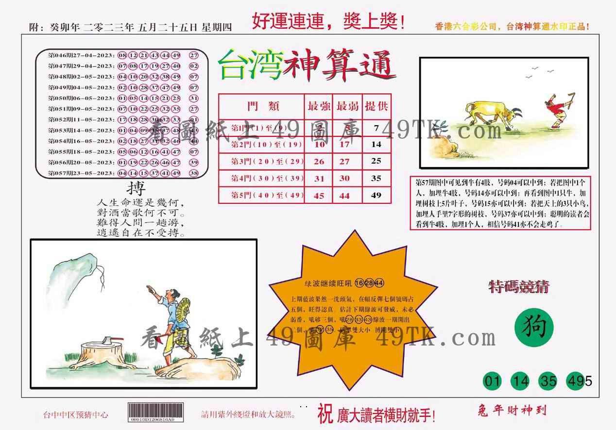 058期台湾神算