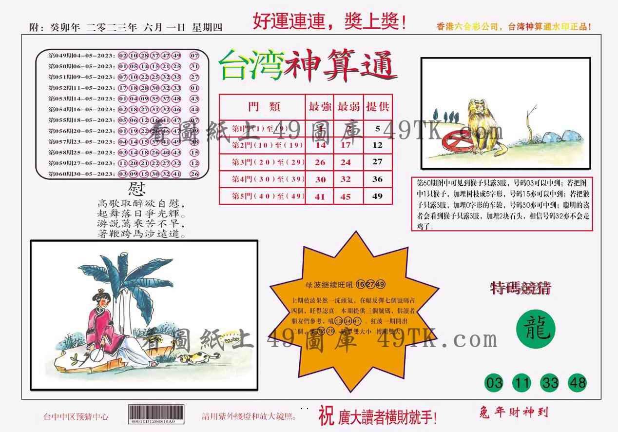 061期台湾神算