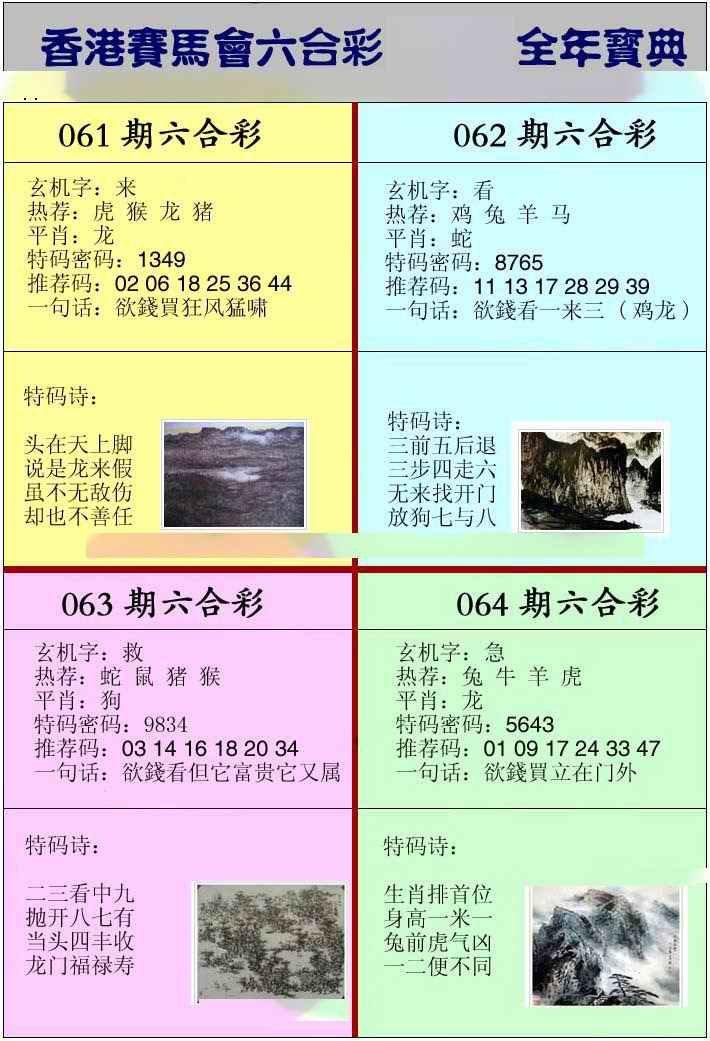 061期香港挂牌宝典