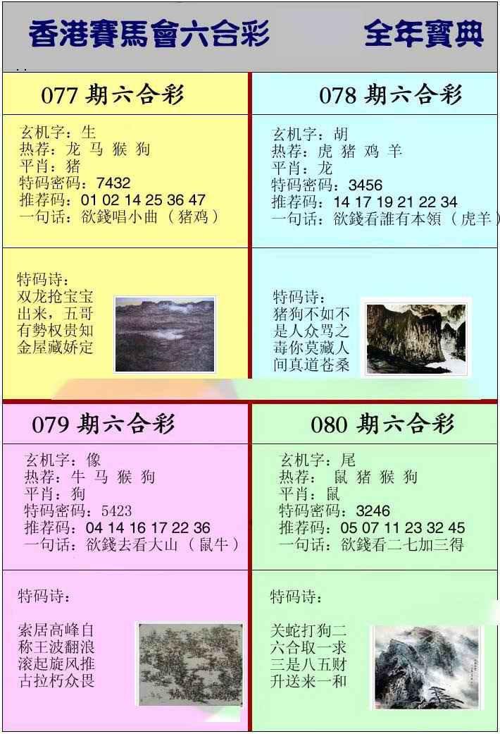 079期香港挂牌宝典