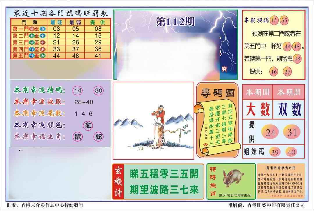 001期香港逢赌必羸(新图)