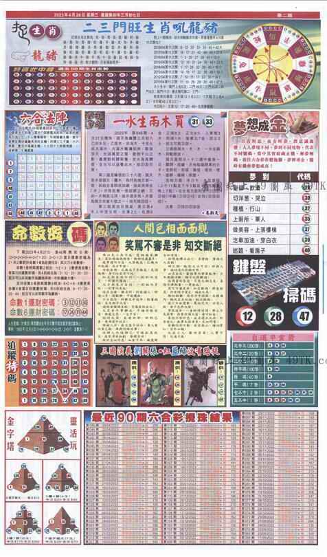 046期新报跑狗-1(正面)