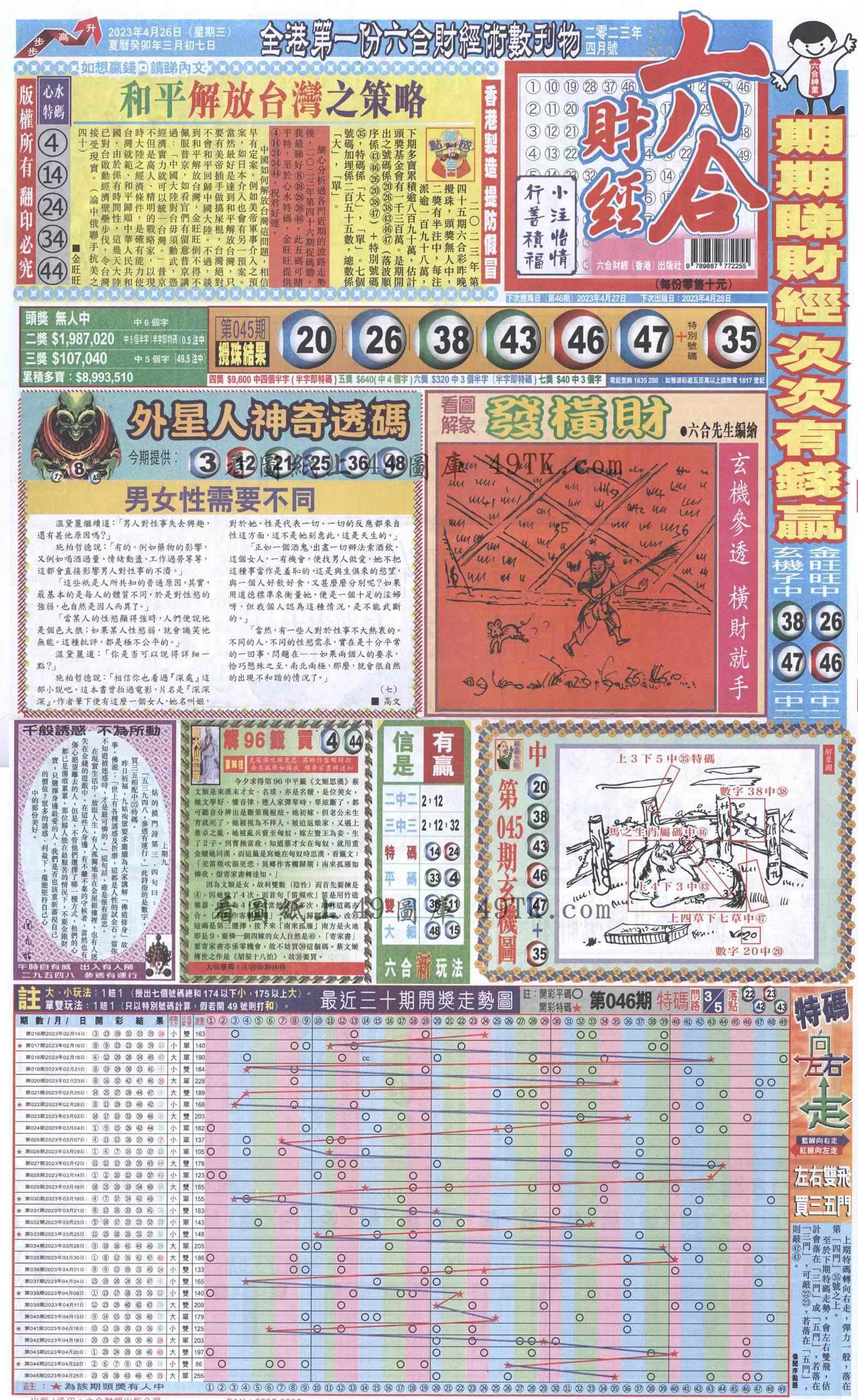 046期六合财经A加大版