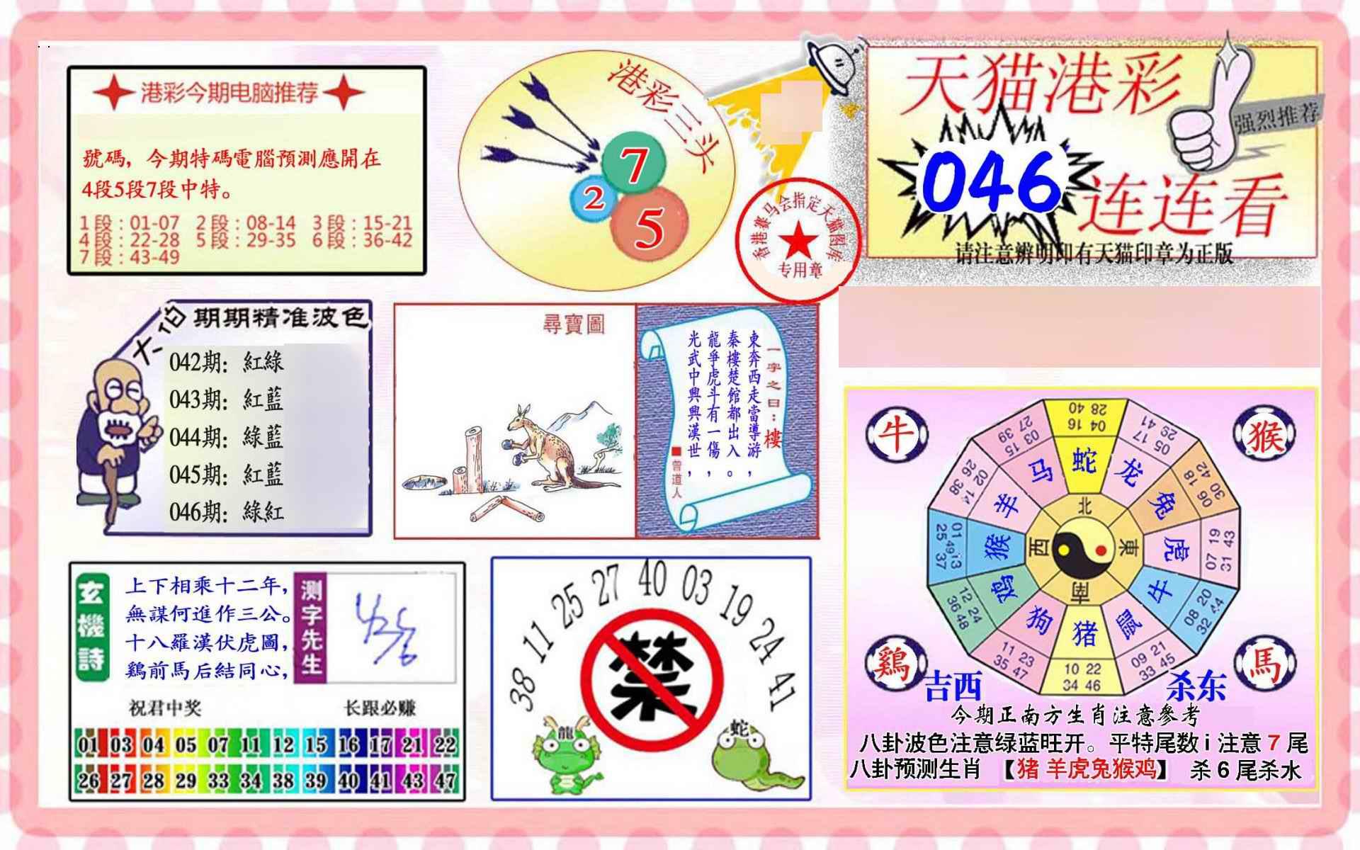 046期港彩连连中