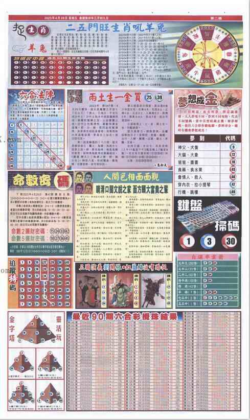 047期新报跑狗-2(背面)
