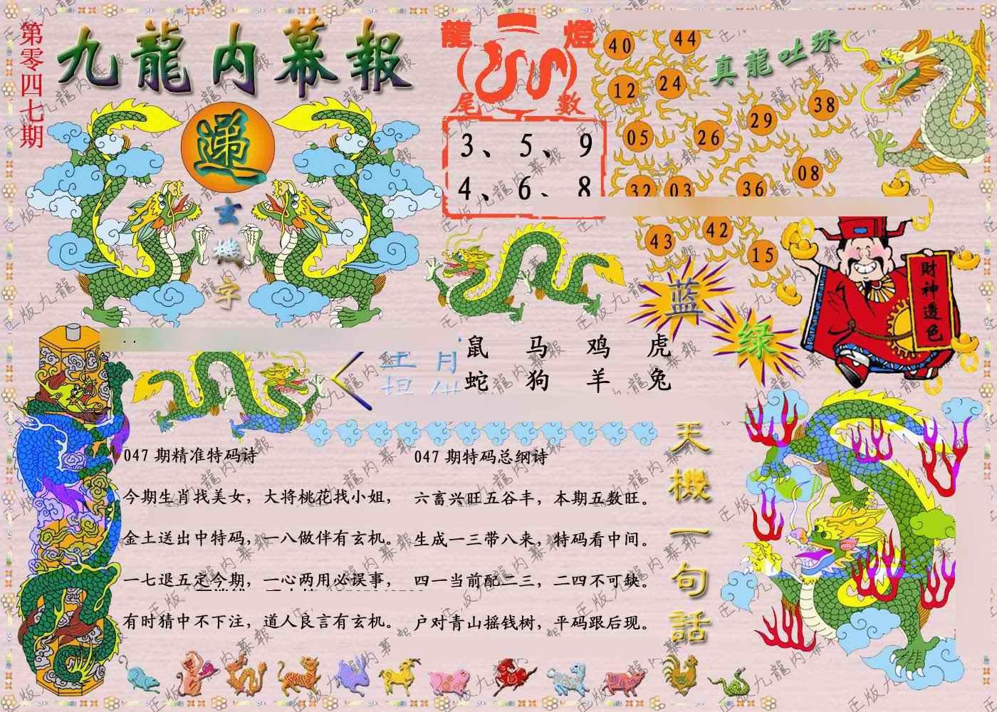 047期正版九龙内幕报