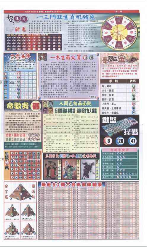 048期新报跑狗-2(背面)