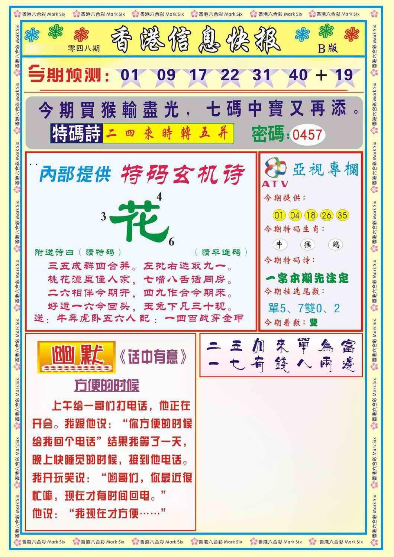 048期香港信息快报B(新)