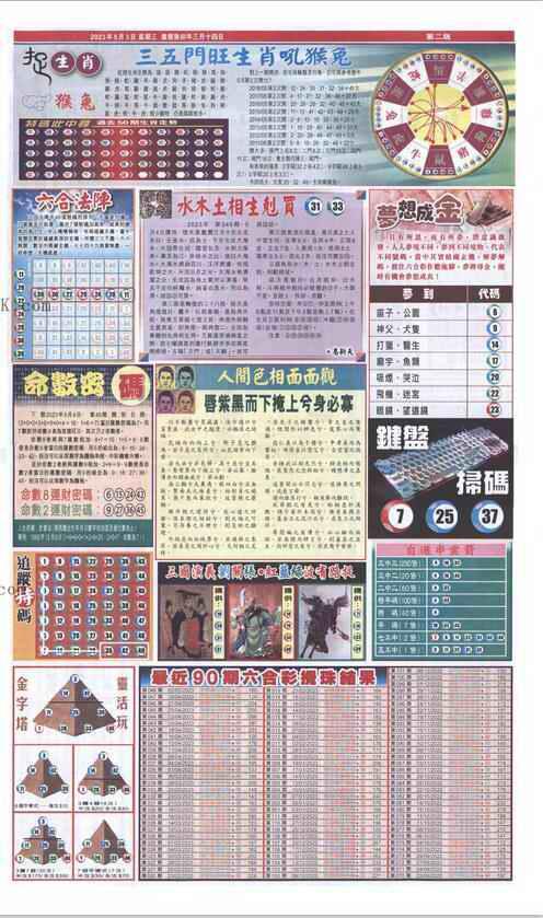 049期新报跑狗-2(背面)