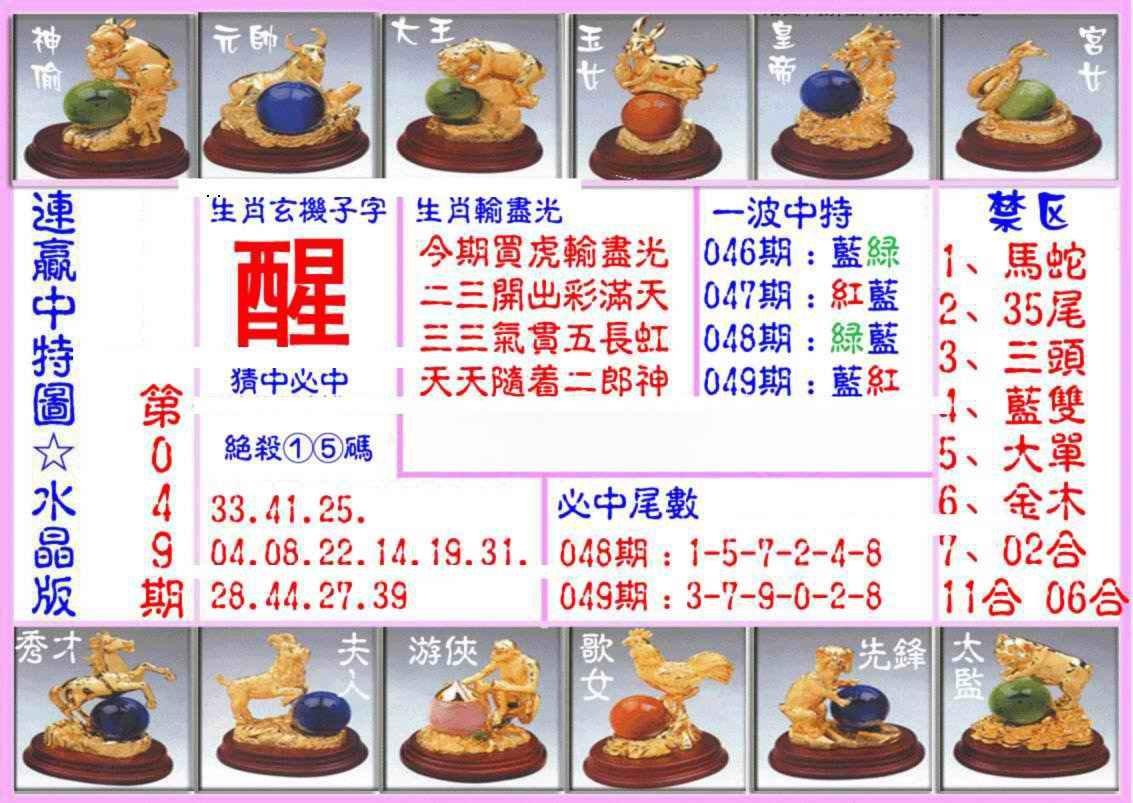 049期连赢中特图(水晶版)
